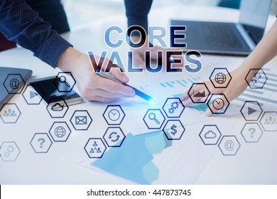 Peoples working in office. Core Values concept.