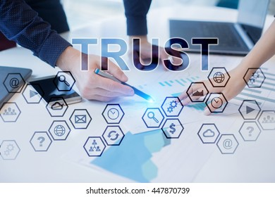 Peoples working in office. Trust concept.