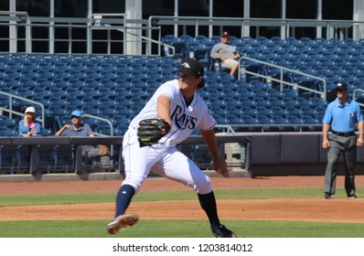 Peoria,AZ/USA -October 15,2018: Matt Krook pitcher for the Peoria Javelinas at Peoria Sports Complex.