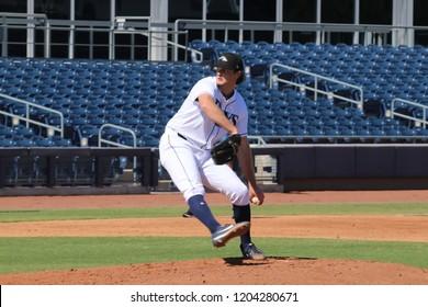 Peoria,AZ/USA- October 15,2018: Matt Krook pitcher for the Peoria Javelinas at Peoria Sports Complex.