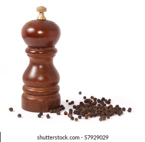 Pepper mill and black peppercorn