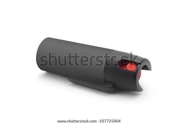 pepper spray on white background