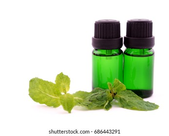 peppermint aroma oil ; spa concept.