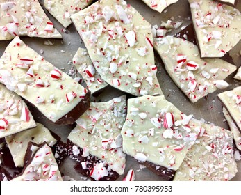 Peppermint bark pieces