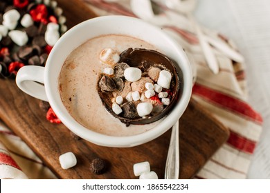 Peppermint Hot Chocolate Ball Bomb Holiday Winter Drink