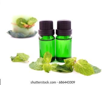 peppermint oil ; spa concept.