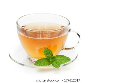 peppermint tea with peppermint leaf