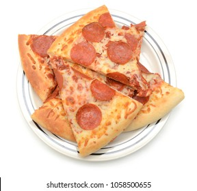 a pepperoni cheese pizza