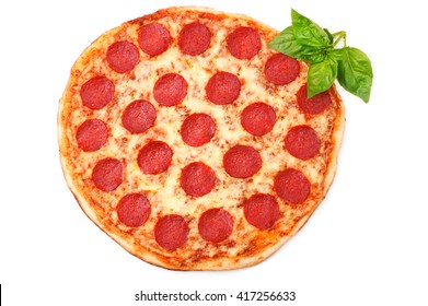 Pepperoni pizza beautiful arrangement