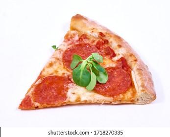 Pepperoni Pizza isolated on white background
