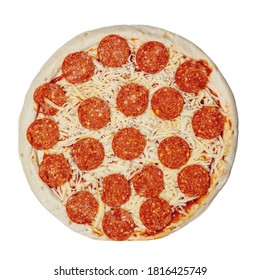 Pepperoni Pizza with mozzarella cheese isolated