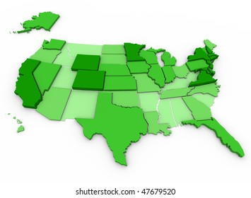 Per Capita Income of United States - state comparison with darkest states representing those with highest income levels, based on US census data