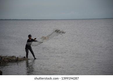 Shrimp Cast Net Images, Stock Photos & Vectors | Shutterstock