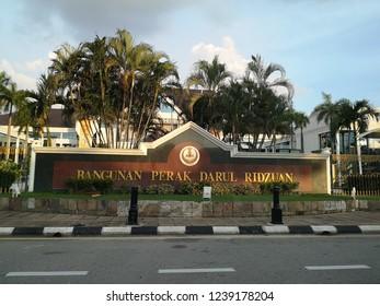 Perak, Malaysia 9th.Nov 2018 - Bangunan Perak Darul Ridzwan-state administration building.