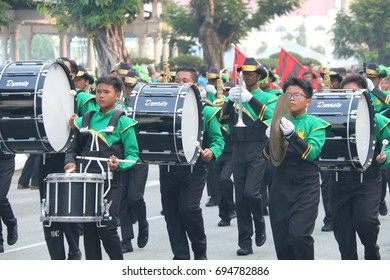 PERAK, MALAYSIA, AUGUST  31, 2015 - Malaysia National Day Parade from all government agencies. Hari Merdeka (Malaysian for 'Independence Day'), also known as Hari Kebangsaan (National day)