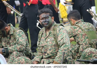 PERAK, MALAYSIA, AUGUST 31, 2016 - Malaysia National Day Parade from all government agency. Hari Merdeka (Malaysian for 'Independence Day'), also known as Hari Kebangsaan (National day)