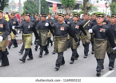 PERAK, MALAYSIA, AUGUST 31, 2018 - Malaysia National Day Parade from all government agency. Hari Merdeka (Malaysian for 'Independence Day'), also known as Hari Kebangsaan (National day)