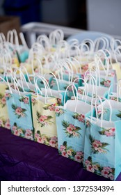 PERAK, MALAYSIA - FEB 23, 2019 - Decoration goodies bag give to people come at wedding ceremony