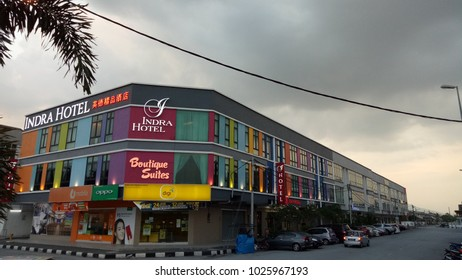 PERAK, MALAYSIA - February 17, 2018 : Colorful boutique suites hotel at Ipoh Malaysia