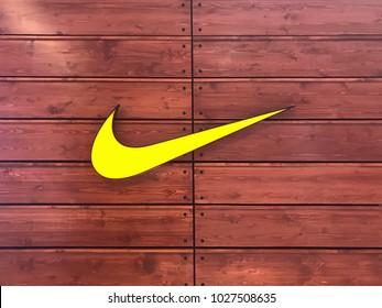 Perak, MALAYSIA - February 18, 2018 - Nike logo at Ipoh Parade shopping mall.