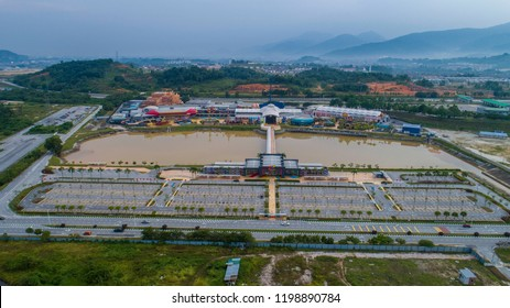 Perak, Malaysia. July 23, 2018. Aerial view of Movie Animation Park (MAPS) in Ipoh, Perak. MAPS Perak is a theme park in Ipoh, Perak offers 40 attractions in 6 themed zones.