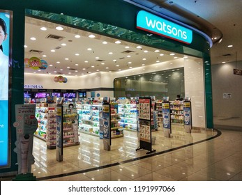 Perak, Malaysia September 30, 2018: Watson store in Malaysia. Watsons Personal Care Stores, known simply as Watsons, is the largest health care and beauty care chain store in Asia.