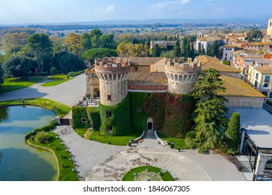 The Peralada castle is located in Peralada Catalonia Spain. It was originally build in IX.