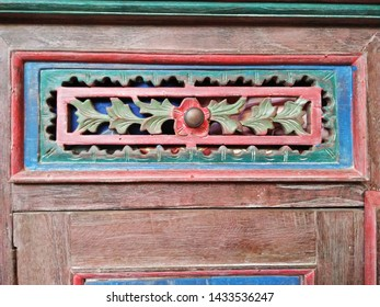 Peranakan Baba Nyonya classic Style  carved wooden cabinet  flower designed