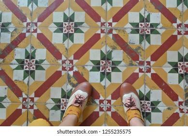 Peranakan tiles in Penang