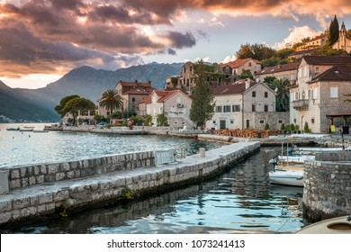 Perast - beautiful small town in Montenegro