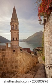 Perast city, Montenegro, beautiful seascape