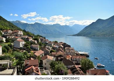 Perast vilage in Bay of Kotor, Montenegro