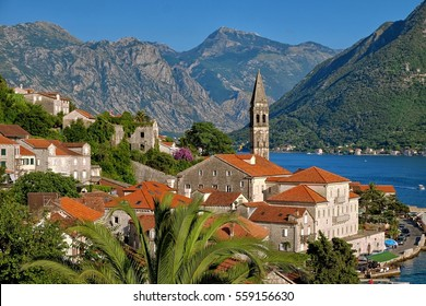 Perast Village in Kotor Bay, Montenegro