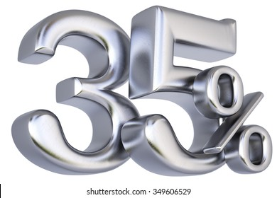 percent discount from silver. isolated on white background.