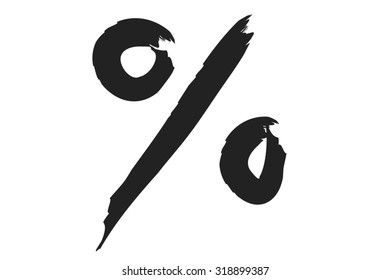 percent sign or symbol on white background.