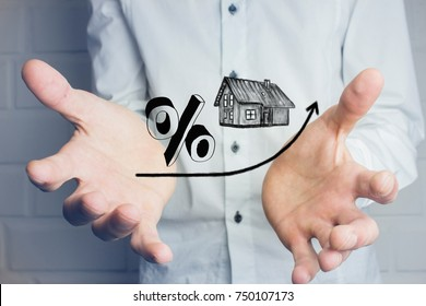 Percent symbol with home