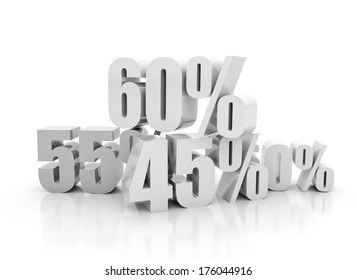 Percentage signs 3d - Big sale