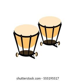 Percussion drum icon.