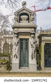 Pere Lachaise - world's most visited cemetery, attracting hundreds of thousands of visitors annually to graves of those who have enhanced French life over past 200 years. Paris, France