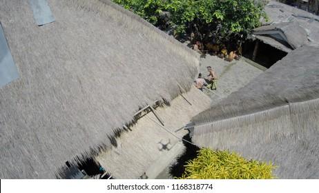 Peresean (Traditional Sasak Stick Fight) in Sade Village, Sasak Ethnic Group, Lombok, West Nusa Tenggara, Indonesia