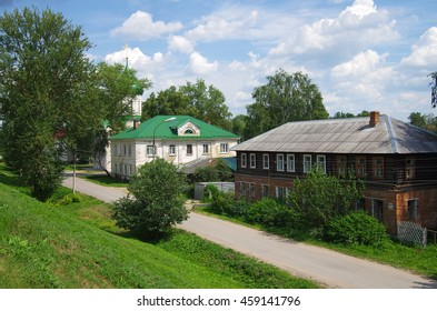PERESLAVL-ZALESSKIY, RUSSIA - July, 2016: Summer view of the old town streets