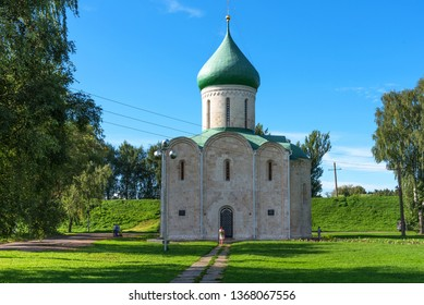 Pereslavl-Zalessky, Russia - August 5, 2018 : Spaso-Preobrazhensky Cathedral, Pereslavl-Zalessky, Russia. Savior's Cathedral. Golden Ring of Russia