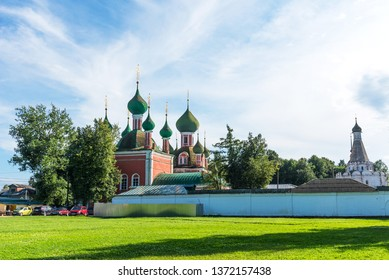 Pereslavl-Zalessky, Russia - August 5, 2018 : Amazing summer view of The Church of Alexander Nevsky in Pereslavl-Zalessky, Yaroslavl region, Russia. Golden Ring of Russia