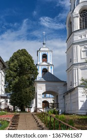 Pereslavl-Zalessky, Russia. Male Orthodox monastery. Golden Ring of Russia. Belltower of the Annunciation Church