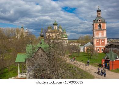 Pereslavl-Zalessky, Russia - May 3, 2019: Goritsky Assumption Monastery in the city of the Golden Ring Pereslavl Zalessky