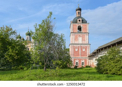 Pereslavl-Zalessky, Russia, September 2, 2018: Goritsky assumption monastery. View of the Church of the Epiphany with a bell tower and the assumption Cathedral.