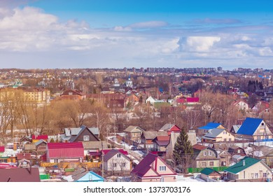 Pereslavl-Zalessky, view of the city. March 2019