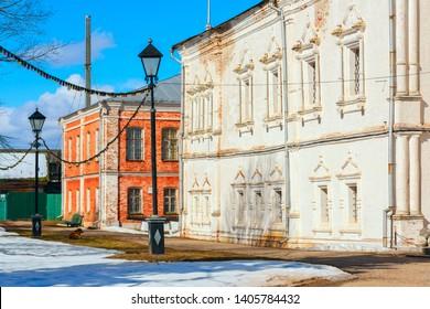 PERESLAVL-ZALESSKY, YAROSLAVL REGION, RUSSIA - March 27, 2019: Pereslavl Historical-Art and Historical-Architectural Museums