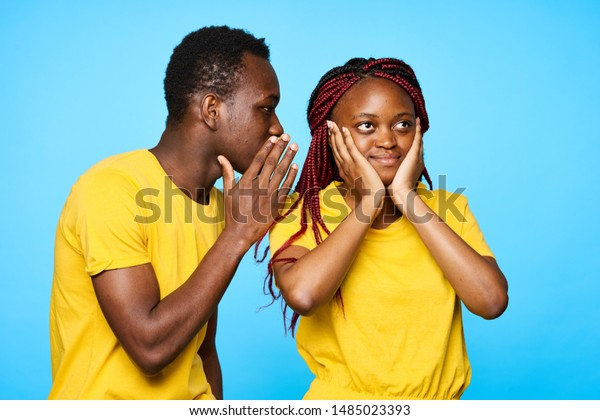 Perfect African American Woman Covers Her Stock Photo (Edit Now) 1485023393