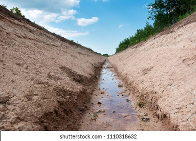 Perfect agricultural ditch.